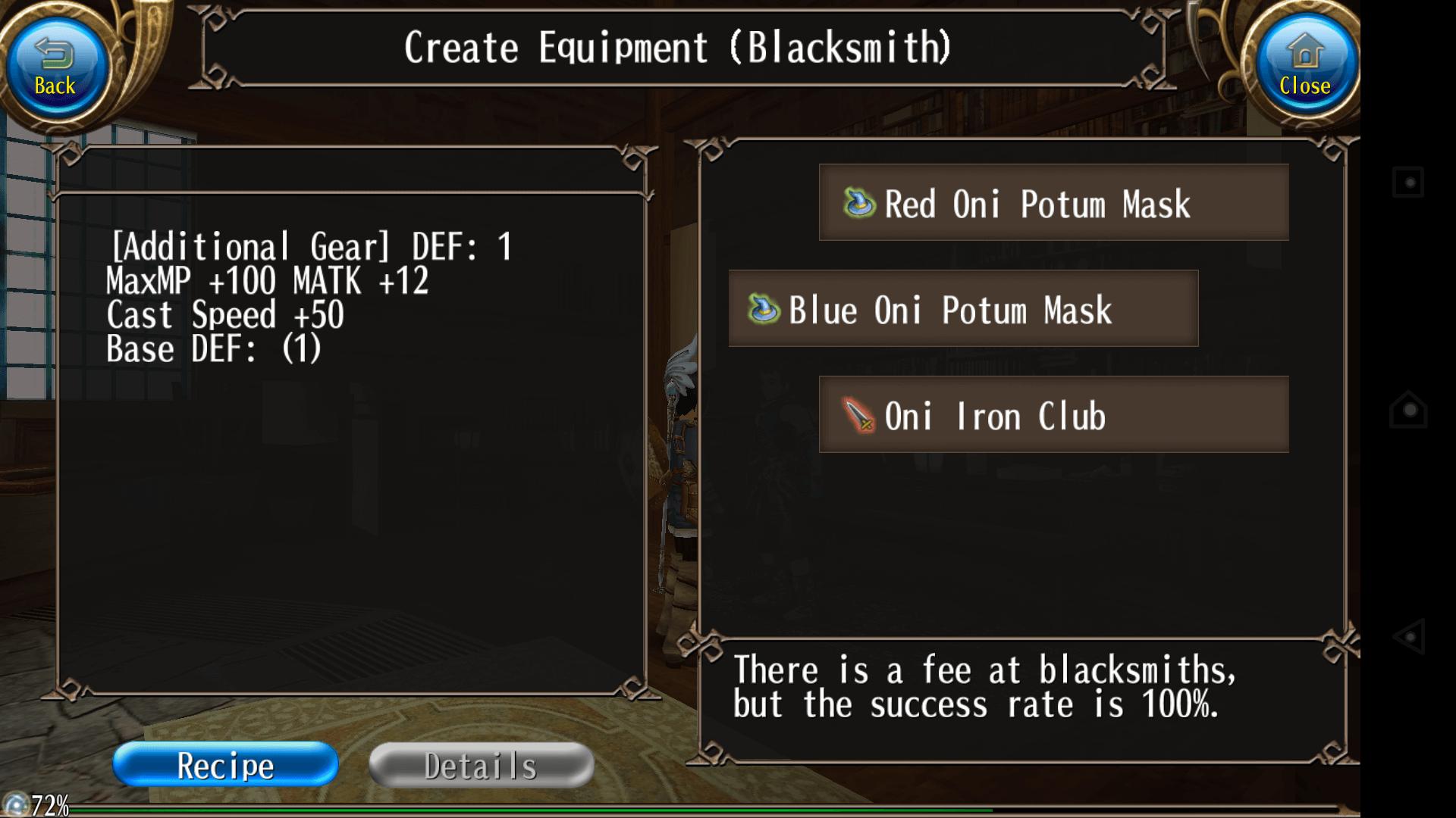Blue oni potum mask