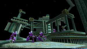 闇で覆われた空間にぽっかりと存在する闇の城。